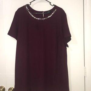 Apt 9 Maroon Bejeweled dress shirt